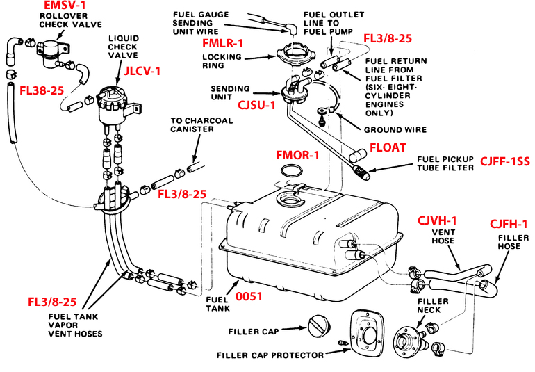 1978 86 Jeep Cj Replacement Fuel Tank 15 Gallon on 1997 ford ranger fuse box diagram