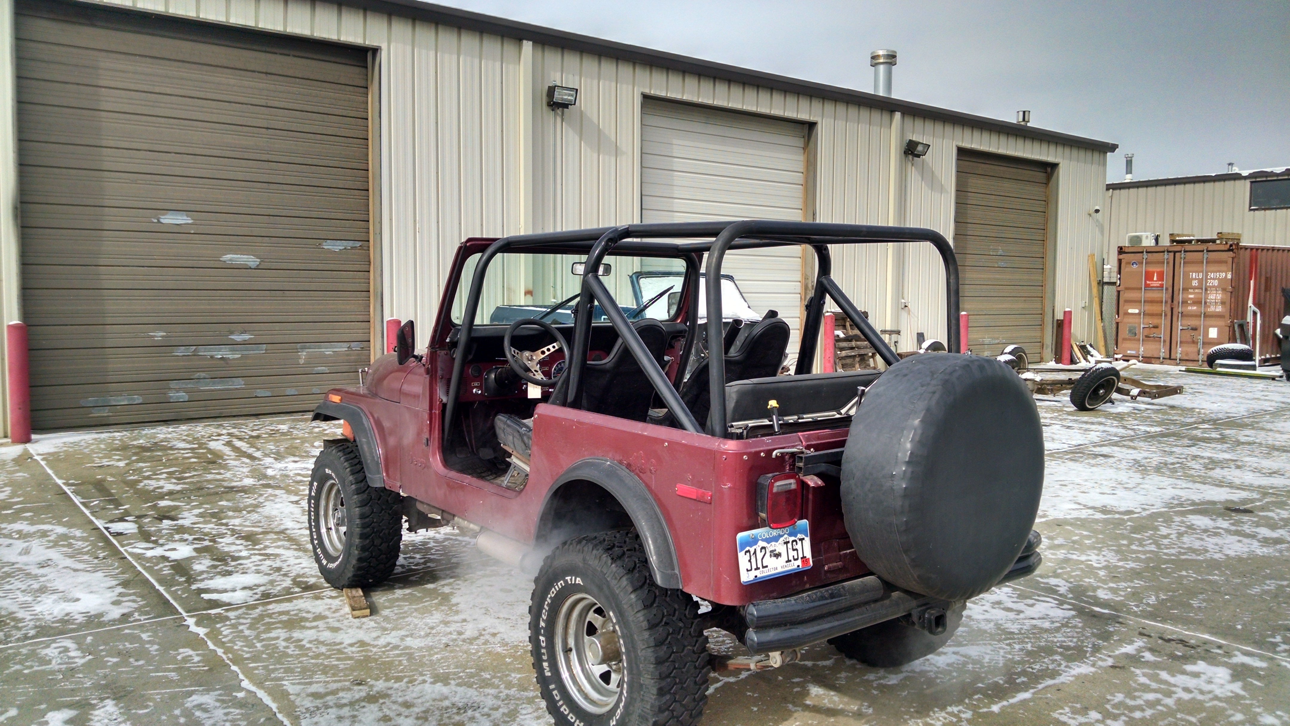 1976 86 jeep cj 7 front rear cage kit d and c extreme - Jeep cherokee exterior roll cage ...